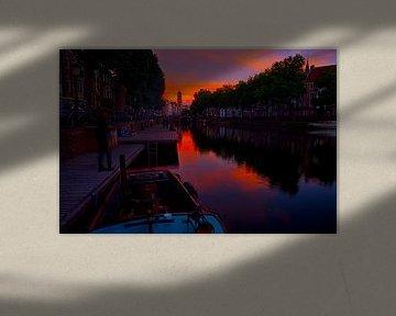 De Weerdsingel bij de Weerdsluis en rivier de Vecht. van George Ino