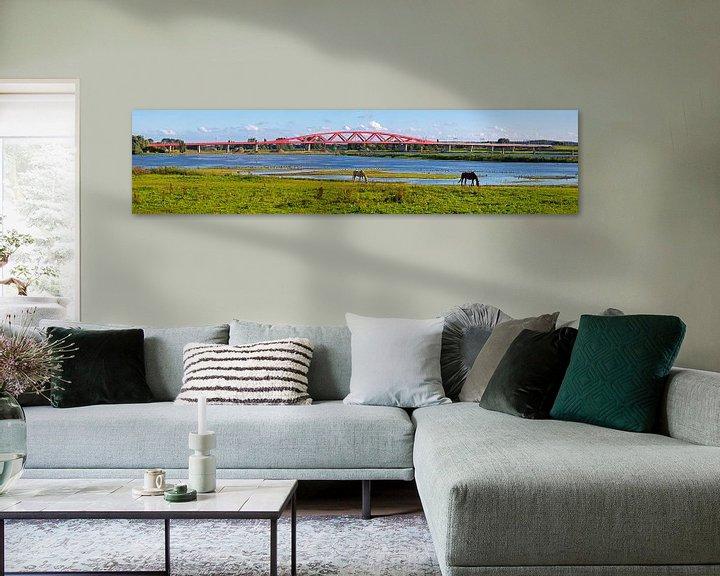 Sfeerimpressie: Panorama Hanzeboog spoorbrug Zwolle van Anton de Zeeuw