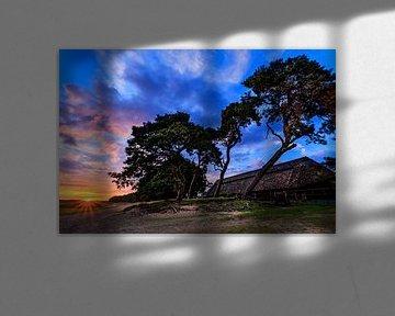 Ginkelse Heide Zonsondergang 3 van Joram Janssen