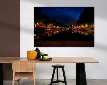 Avond Weerdsingel, vanuit de Bemuurde Weerd, Utrecht. van George Ino