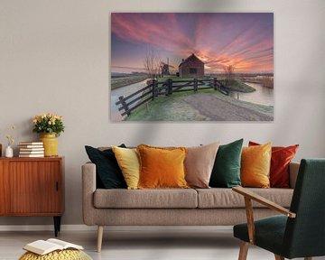 Sunrise Uitwijkse Mühle Uppel Gemeinde Werkendam