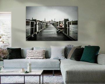Stadsgezicht Vlissingen vanaf pier van Erik Wouters