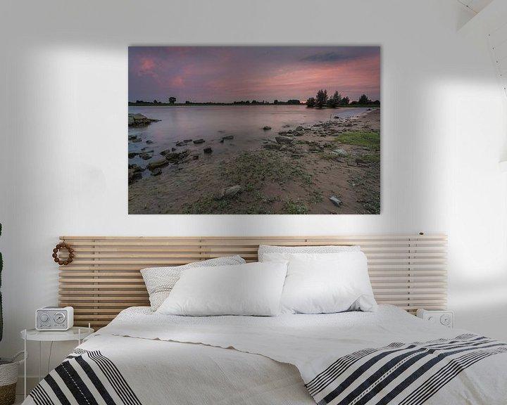 Beispiel: Sonnenuntergang an der IJssel in Windesheim Provinz Overijssel von Adrian Visser