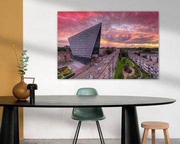 Stadskantoor Den Haag tijdens zonsondergang von Rob Kints
