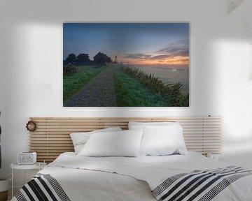 Sunrise Schokland (Flevoland, Niederlande)