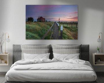 Sunrise Schock Land Provinz Flevoland, Niederlande.