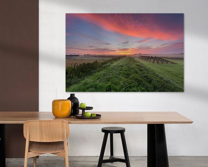 Beispiel: Sunrise Schokland, Flevoland, Niederlande. von Adrian Visser