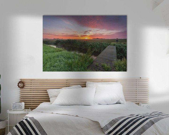 Beispiel: Sunrise-Schock Land Provinz Flevoland von Adrian Visser