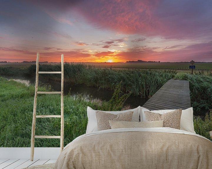 Beispiel fototapete: Sunrise-Schock Land Provinz Flevoland von Adrian Visser