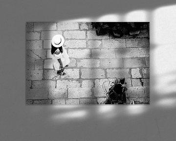 Dubrovnik - Frau und Katze von Maurice Weststrate