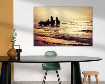 Met de paardenkar door de golven van Evert Jan Kip