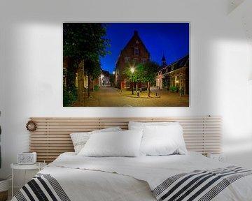 Nachtfoto oud pand Amersfoort