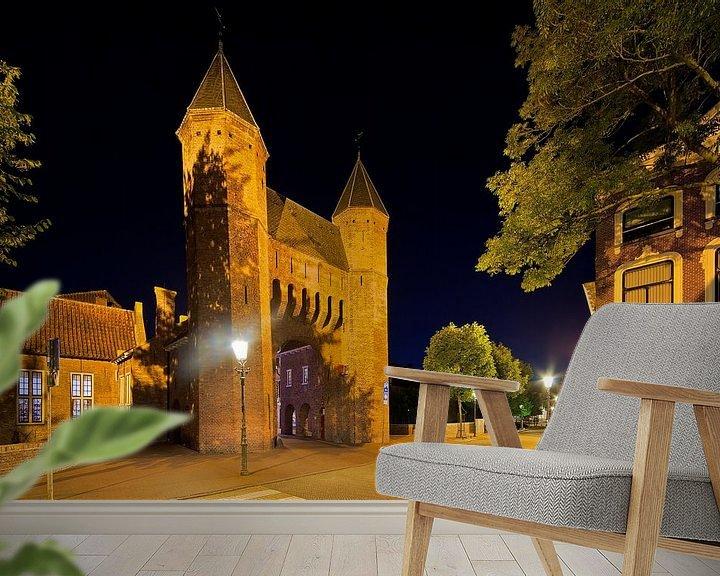 Sfeerimpressie behang: Kamperbinnenpoort Amersfoort van Anton de Zeeuw