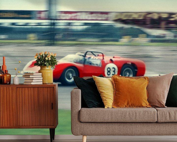 Sfeerimpressie behang: 1964 - Ferrari Dino van Timeview Vintage Images