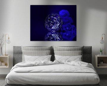 Blaue Rosen von Martina Fornal