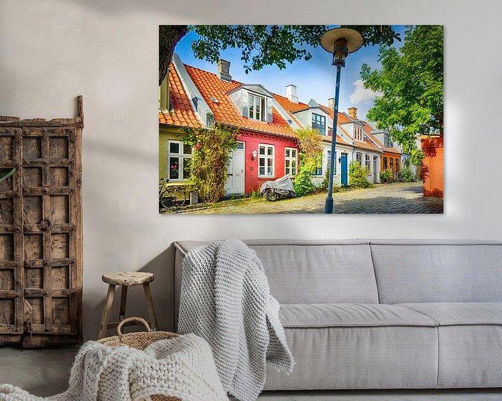 Impression: Kleurrijke huisjes in Møllestien sur Tony Buijse