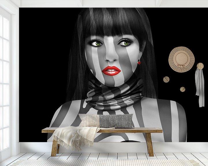 Beispiel fototapete: Exotic Lady von Monika Jüngling