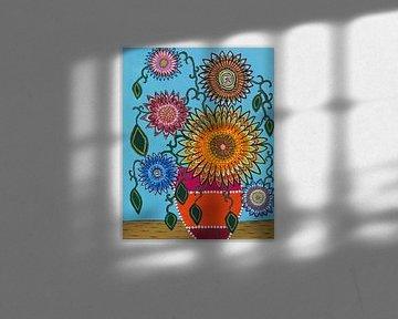 zonnebloemen in een ander jasje von Marionne Janga
