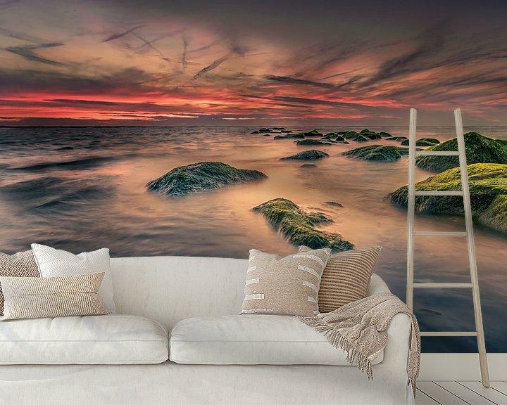 Sfeerimpressie behang: Hoog water van Machiel Koolhaas