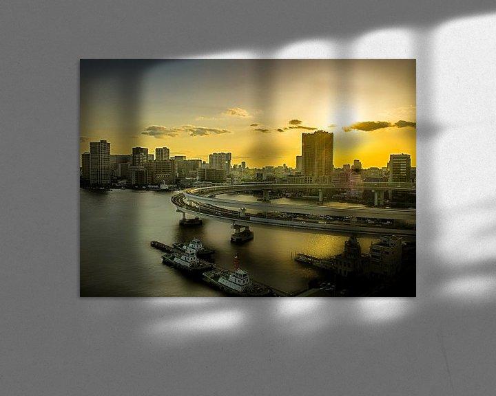 Sfeerimpressie: Zonsopkomst over Tokio, Japan van Sandra Kuijpers