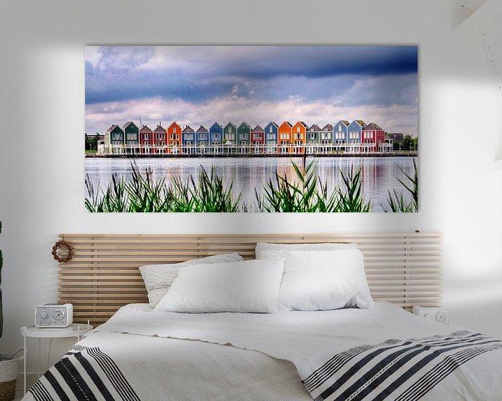 Beispiel: Regenboog huizen Houten von Henk Langerak