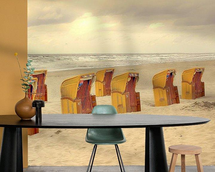 Beispiel fototapete: Strandstoelen von marleen brauers
