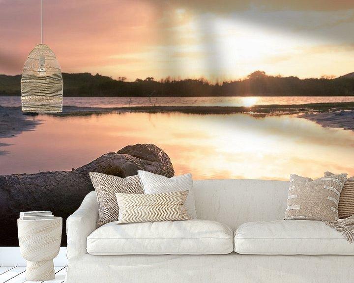 Sfeerimpressie behang: zonsondergang in het vogelmeer  van Frank Kremer