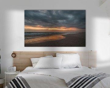 Zonsondergang Maasvlakte van PJS foto