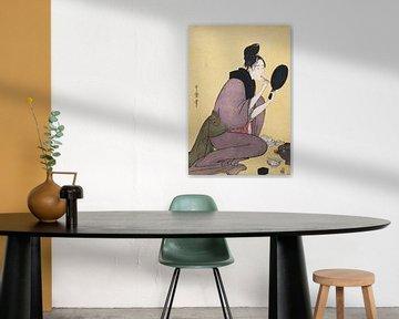 Frau beim Schminken, Kitagawa Utamaro