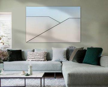 Trappenhuis in abstract von Greetje van Son