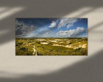 Panorama Duinen van Katwijk van Martijn van der Nat