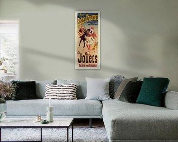 Vintage Poster for Magasin Aux Buttes Chaumont. Jules Cheret, (1836-1932)