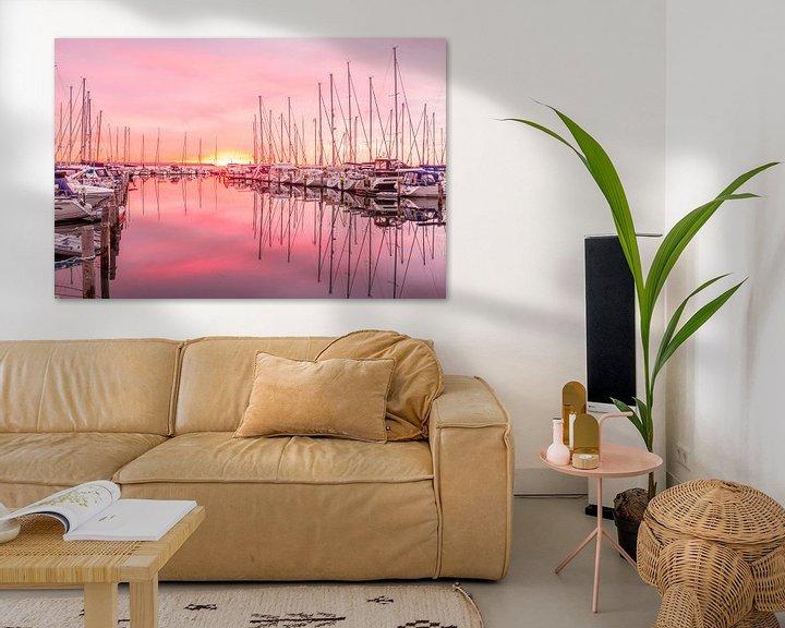 Beispiel: Zonsopkomst in de jachthaven von Tony Buijse