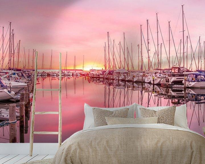 Beispiel fototapete: Zonsopkomst in de jachthaven von Tony Buijse