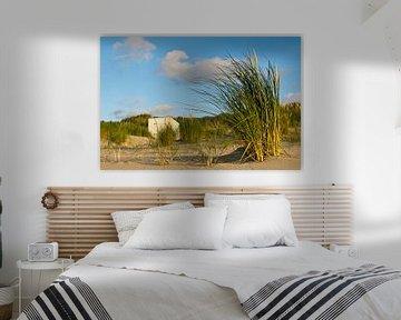 Strandhuisje in de duinen  van René Weijers