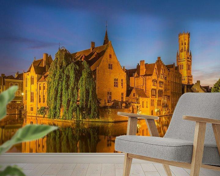 Beispiel fototapete: Brugge by Night - 2 von Tux Photography