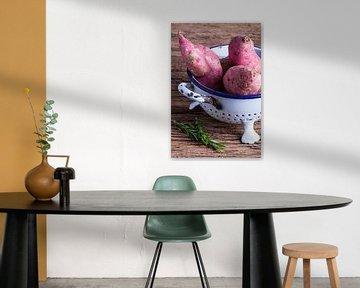 Stilleven van zoete aardappelen