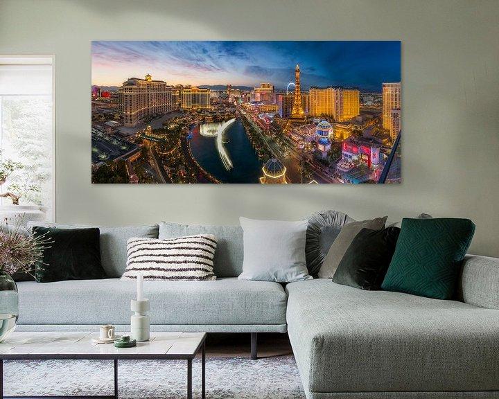 Sfeerimpressie: Las Vegas Skyline Panorama van Edwin Mooijaart