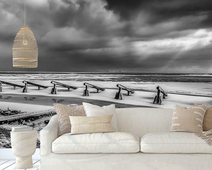 Sfeerimpressie behang: Winter op het IJsselmeer van Aukje Bakker
