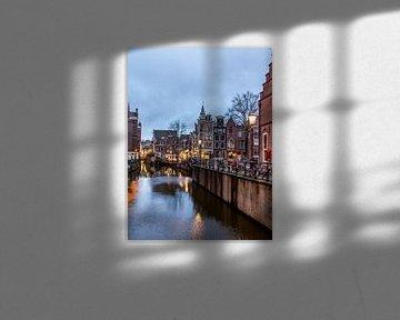 HDR foto van de Grimburgwal in Amsterdam von Wijbe Visser