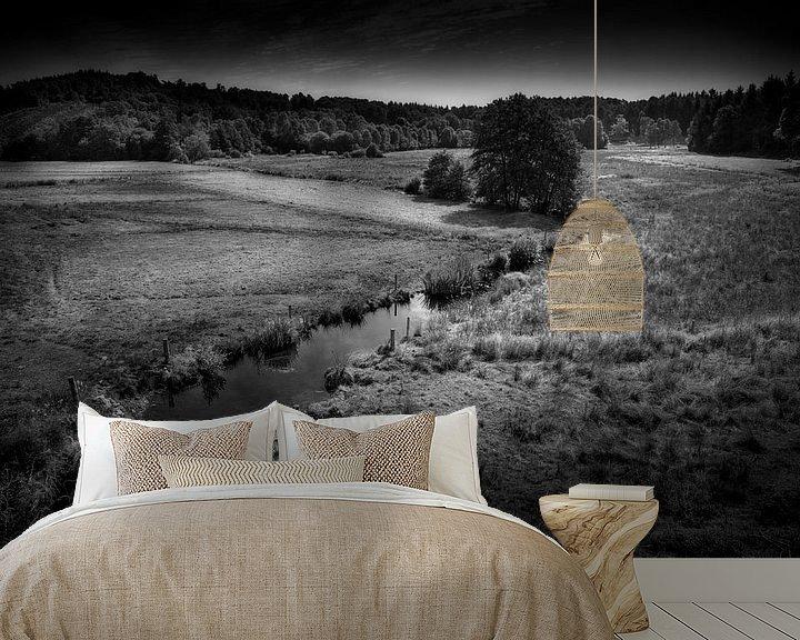 Sfeerimpressie behang: Meander van Ruud Peters
