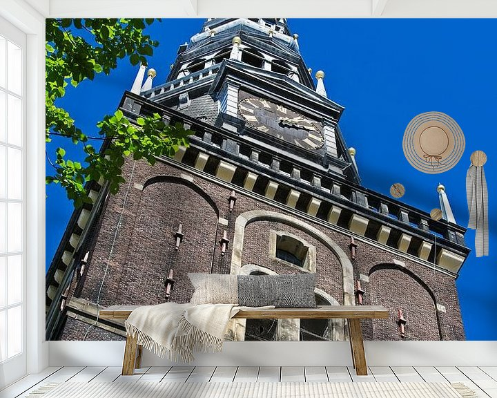 Sfeerimpressie behang: Oude Kerk Amsterdam van Anton de Zeeuw