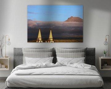 Madalena Azoren kerk Pico vulkaan van Jan Brons