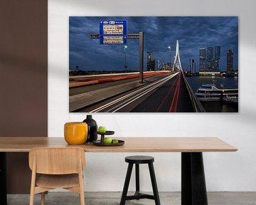 Kop van Zuid - Vanop de Erasmusbrug in Rotterdam van Paul De Kinder
