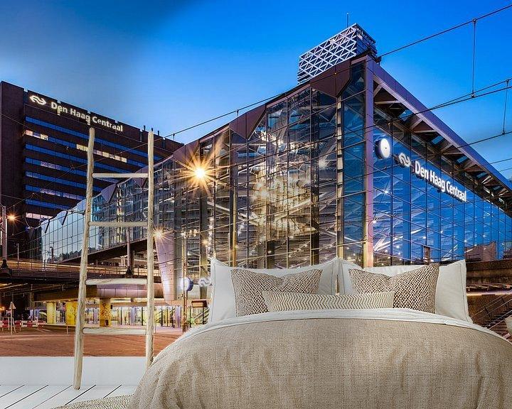 Beispiel fototapete:  Den Haag Central Station (blaue Stunde) von John Verbruggen