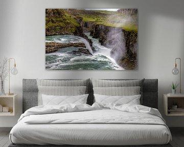 Waterfall Gulfoss van Malte Pott
