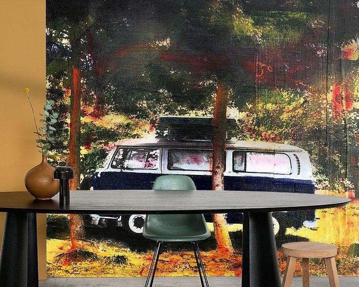Sfeerimpressie behang: Camper van Studio Blomm
