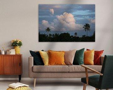 Wolkenveld in Tobago van Jessica van den Heuvel
