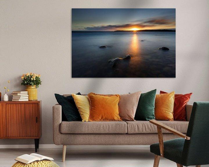 Sfeerimpressie: Zonsondergang in Zweden van Pim Leijen