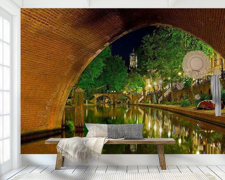 Sfeerimpressie behang: Oudegracht Utrecht van Anton de Zeeuw